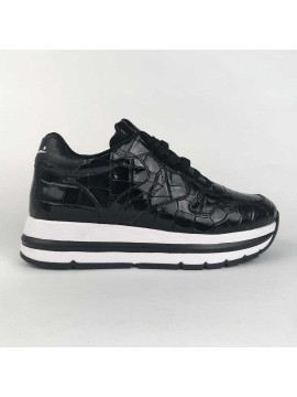 Sneaker Voile Blanche leather black