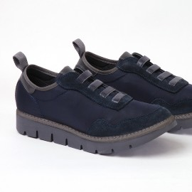 Sneaker Panchic nylon goma blue