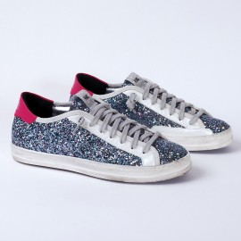 P448 sneaker Johnny silver and pink
