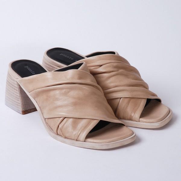 Poesie Veneziane beige heel sandals